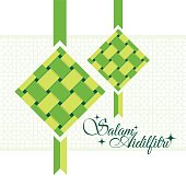 Salam Aidilfitri greeting card.