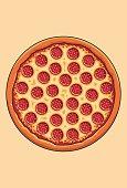 Salami Pizza Flat