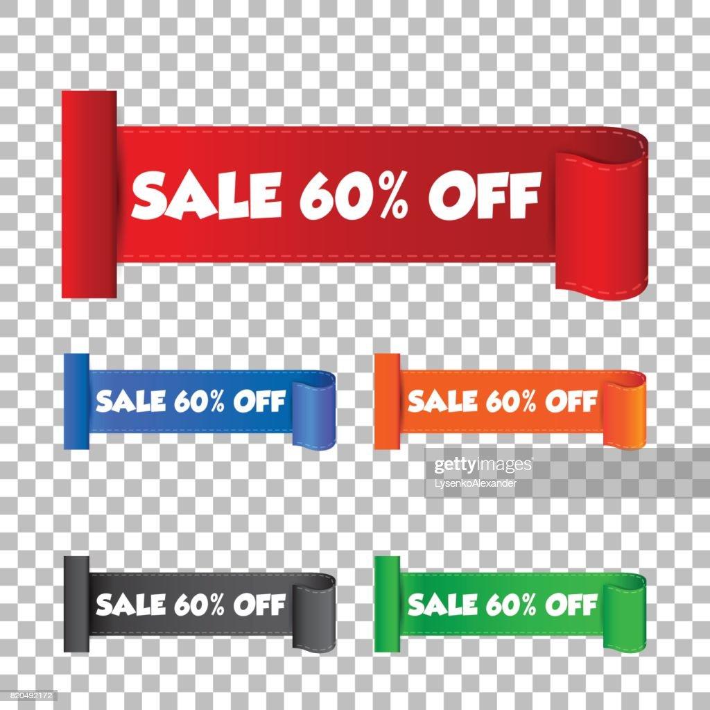 dda9b7e84 Sale 60% off sticker. Label vector illustration on isolated background    stock vector