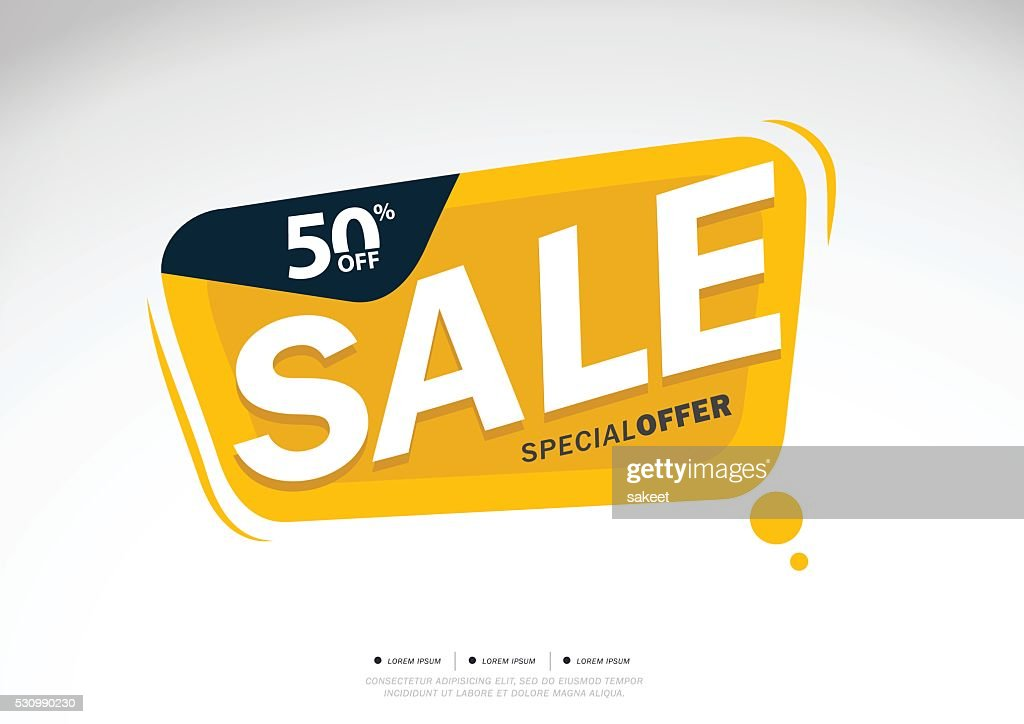 Sale and special offer. 50% off