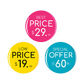 Sale and special offer tag, price tags, Sales Label, Vector illustration. Sale, special offer and price tags design.