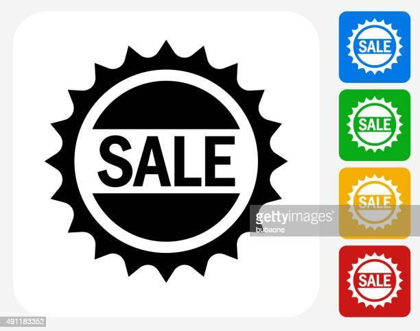 Sale Badge Icon Flat Graphic Design