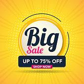 Sale banner template background, Big sale special offer. end of season super sale banner. big promotion, modern sale design. vector illustration.