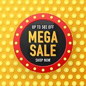 Sale banner template design, Big sale special offer. Sale banner template design, Mega sale special offer. Vector illustration.