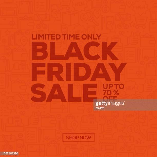 sale banner template design, black friday sale. vector illustration - friday stock illustrations, clip art, cartoons, & icons