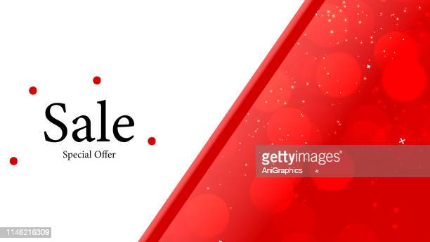 Sale Banner with Bobble Pattern