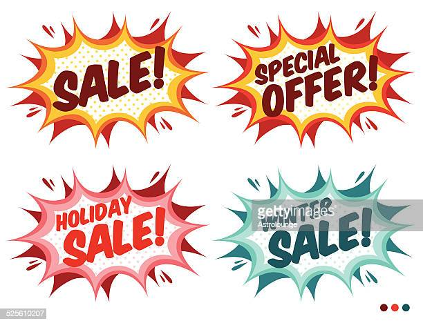sale banners - reduction stock illustrations