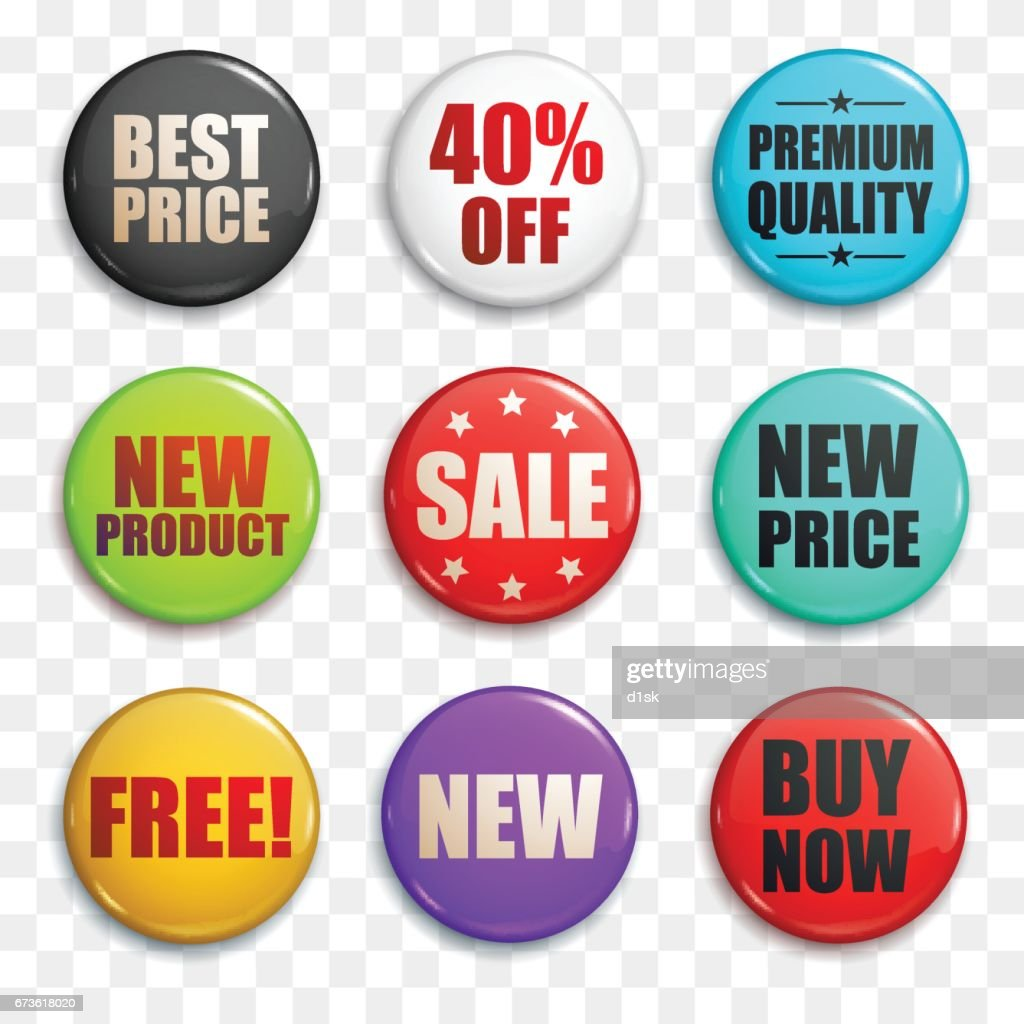 Sale buttons or badges