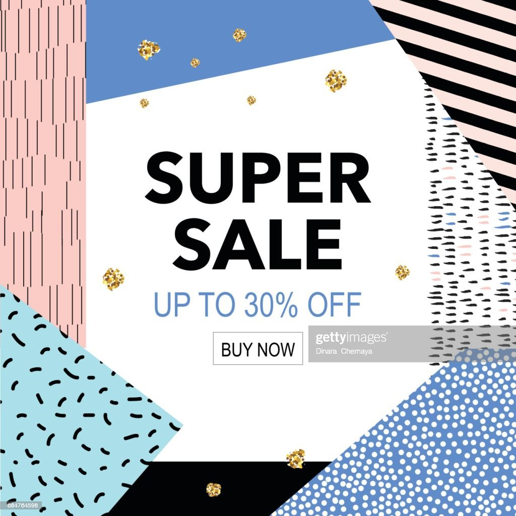 Sale colorful bright poster promo department store. Fashion product discount .