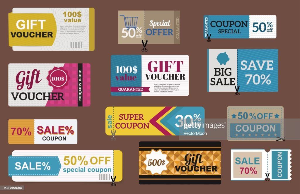 Sale coupon card percent discount symbol vector illustration