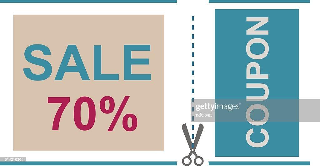 Sale Coupon Certificate Template Vector Illustration Vector Art