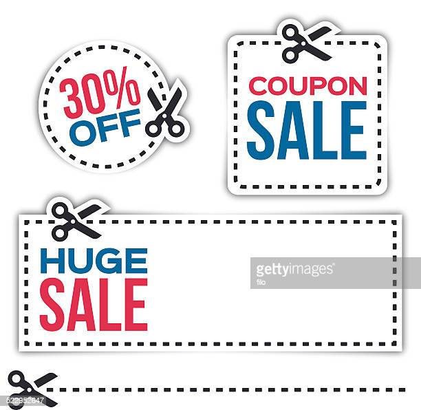 sale coupons - coupon stock illustrations