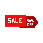 Sale Lettering Red Origami Banner