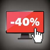Sale, markdown, discount 40 percent on High-quality computer dis