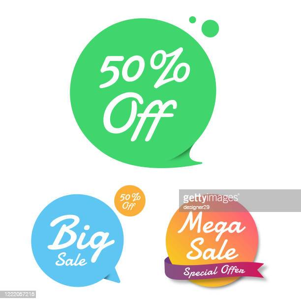 sale of special offers and discount gradient banner template flat design. - friday stock illustrations