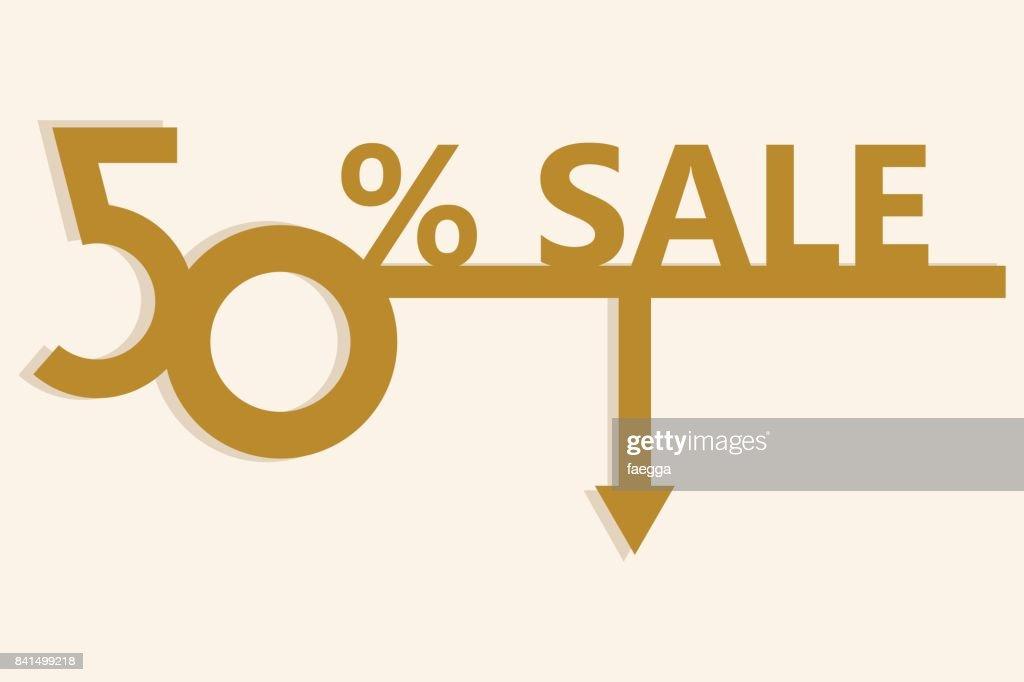 50 Verkauf Angebot Vorlage Plakatgestaltung Vektorgrafik Getty Images