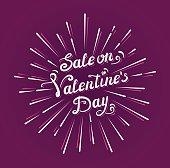 Sale on Valentine`s day