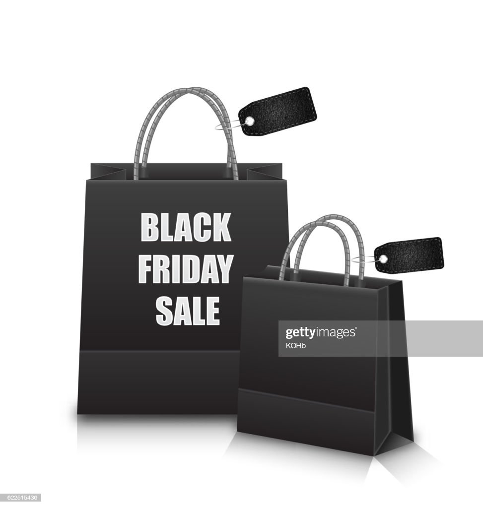 Sale Shopping Bags with Discount for Black Friday Sales -