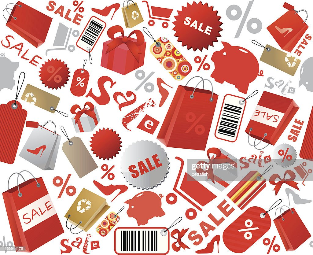 Sale shopping icons : stock illustration