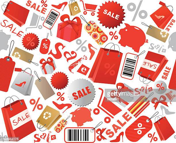 Sale shopping icons