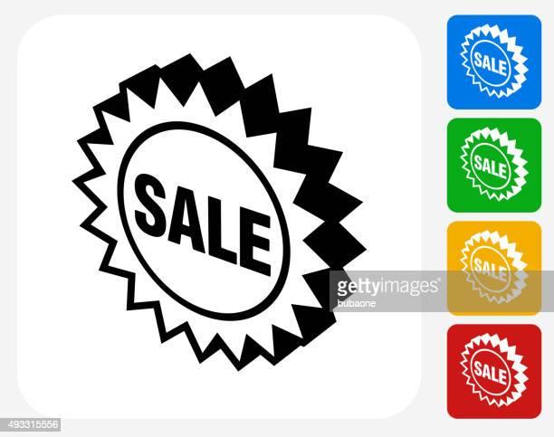 Sale Sign Icon Flat Graphic Design