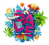 Sale symbol summer season