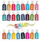 Sale Tags Set