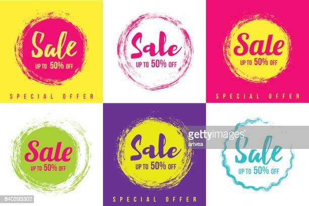 sale tags set - price tag stock illustrations, clip art, cartoons, & icons