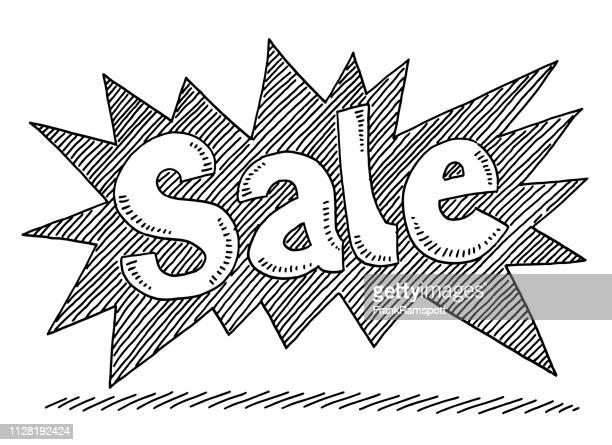 Verkauf Text beschriften Zeichnung