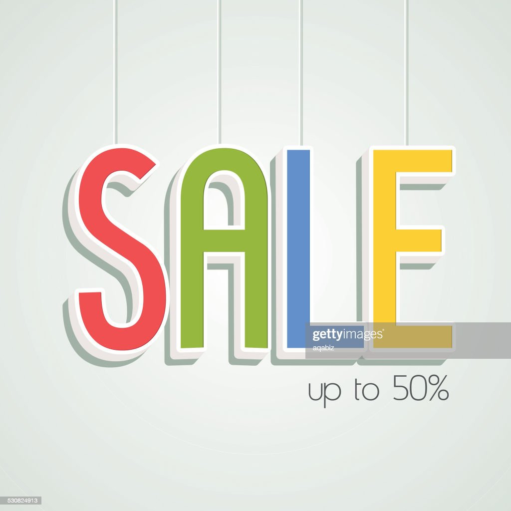 Sale up to 50% off poster or banner.