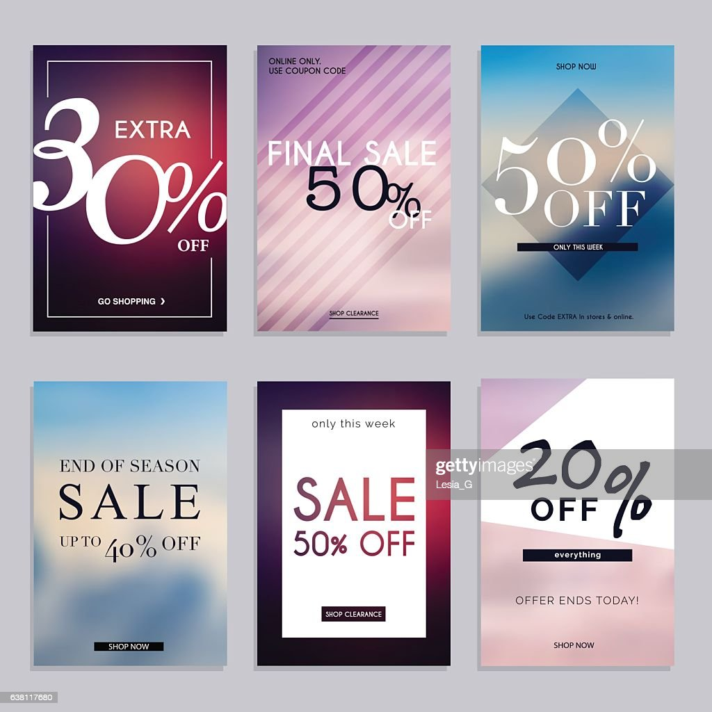 Sale website banners web template collection.