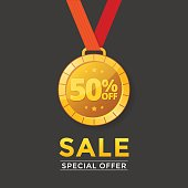 Sale with medal