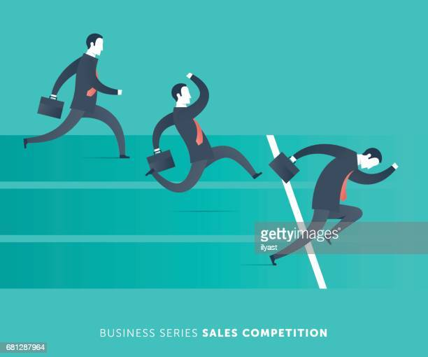 sales competition - competitive sport stock illustrations, clip art, cartoons, & icons