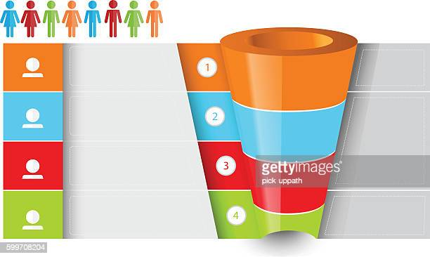 sales funnel chart - funnel stock illustrations