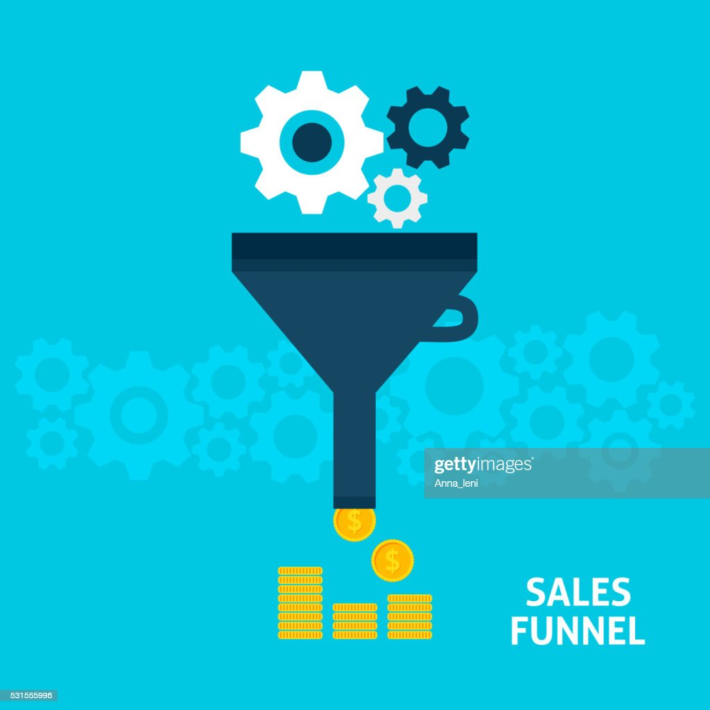 Sales Funnel Flat Concept