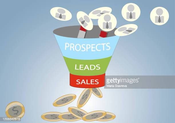 sales funnel marketing concept. - pbs stock illustrations