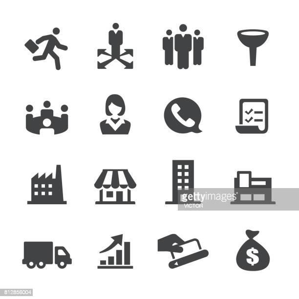 ilustrações, clipart, desenhos animados e ícones de ícones de vendas - série acme - parte de uma série