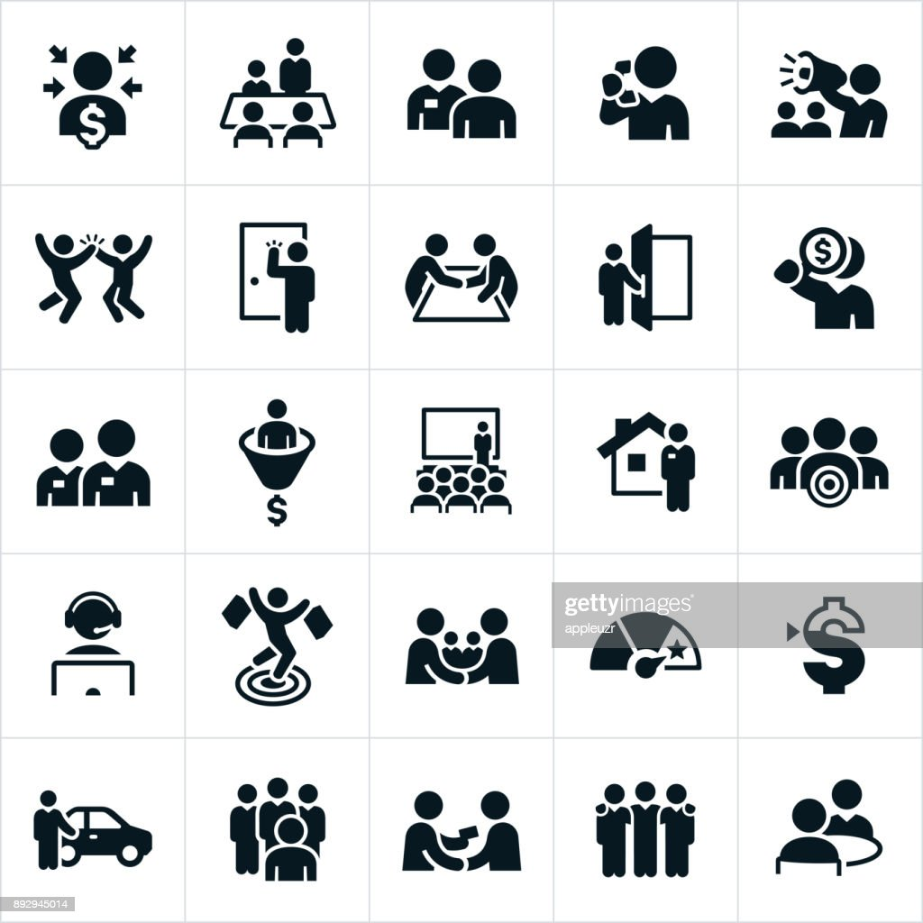 Sales Icons : Stock Illustration