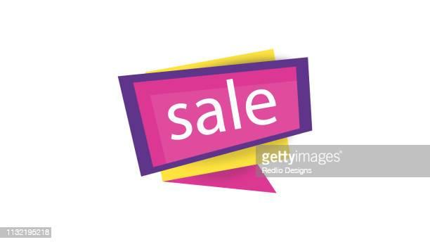 sales label icon - activist icon stock illustrations