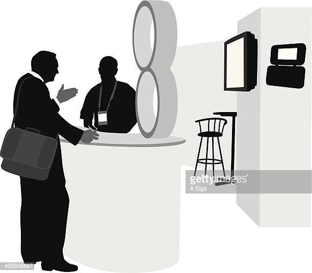 Sales Show Vector Silhouette