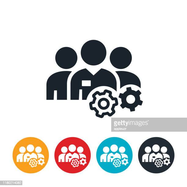 sales team icon - three people stock illustrations