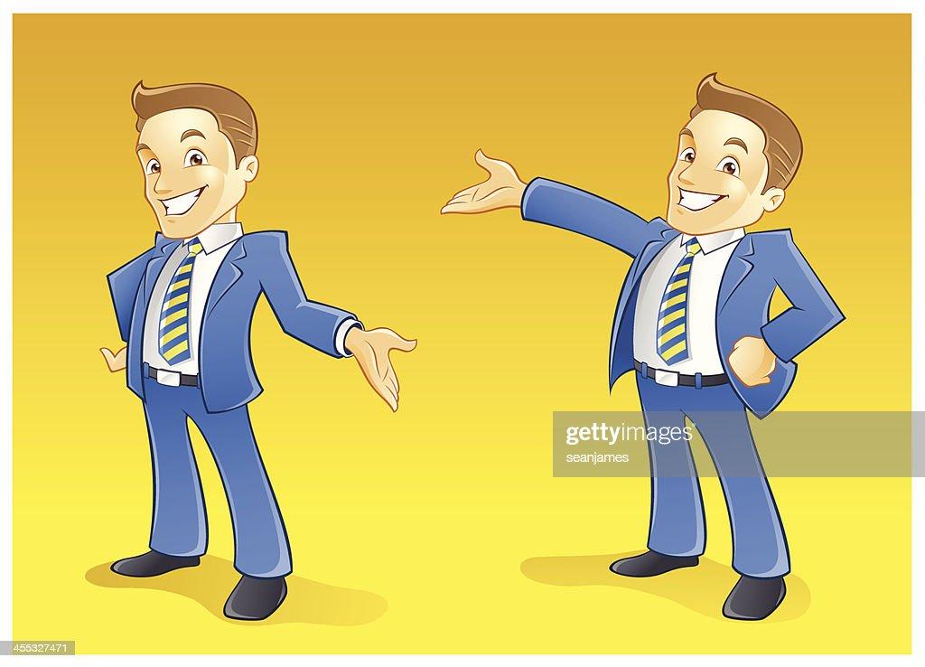 salesman or businessman presentation gesturing vector art getty images