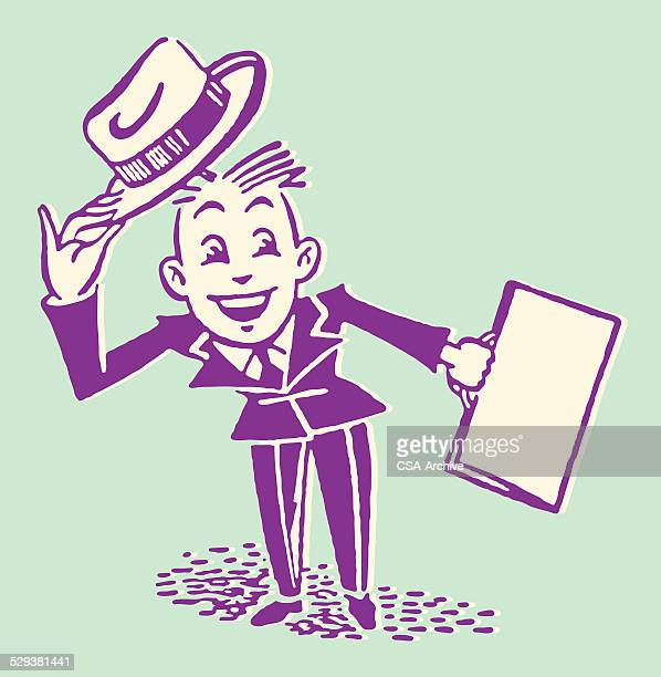 Salesman Tipping Hat