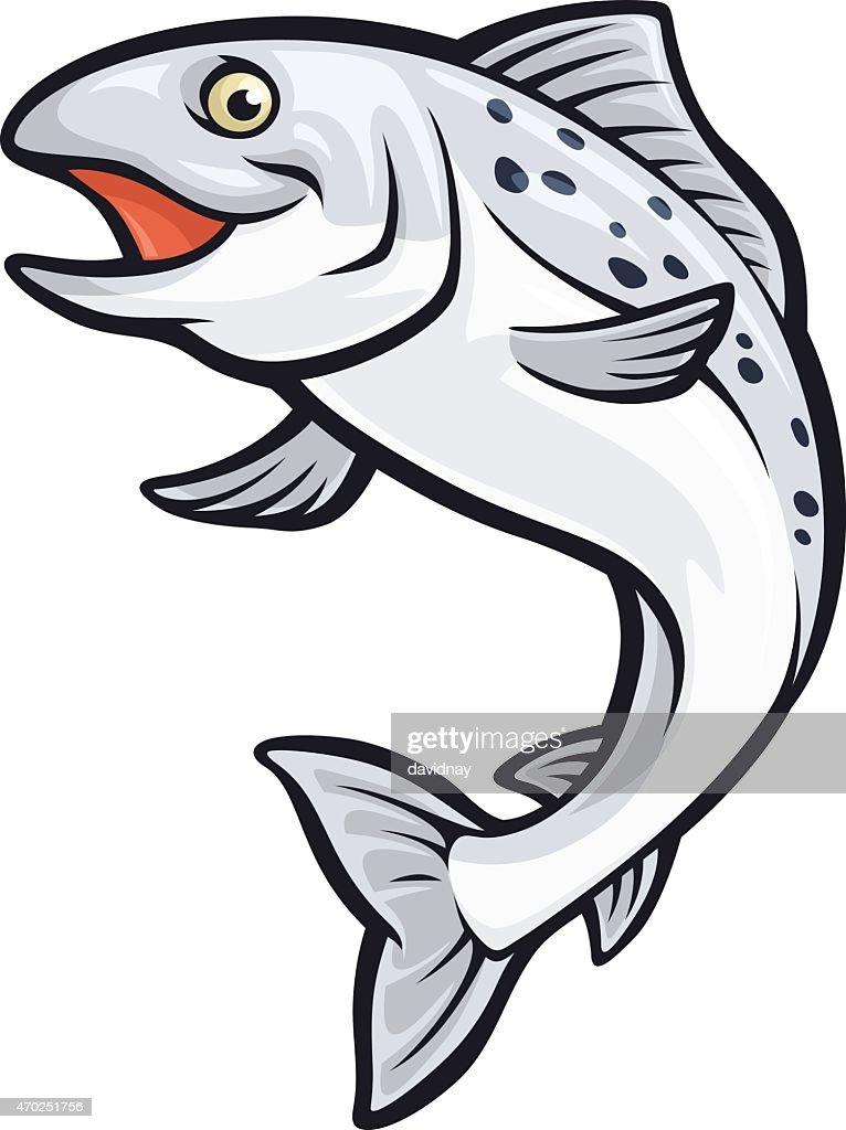 Salmon Mascot