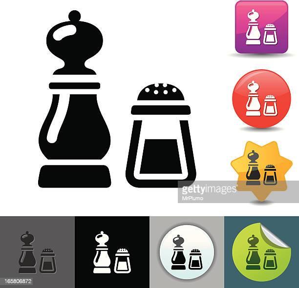 ilustrações de stock, clip art, desenhos animados e ícones de sal e pimenta solicosi ícones/série - pimenta