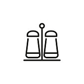 Salt and Pepper line icon