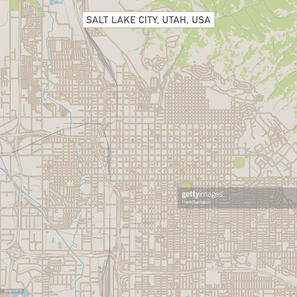 Salt Lake City Utah USA Stadtstraße Karte : Stock-Illustration