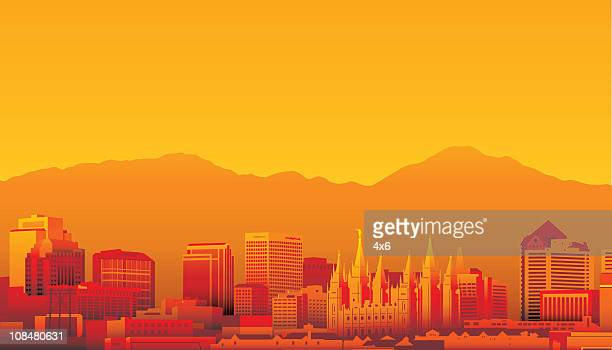 salt lake city, utah - utah stock illustrations, clip art, cartoons, & icons
