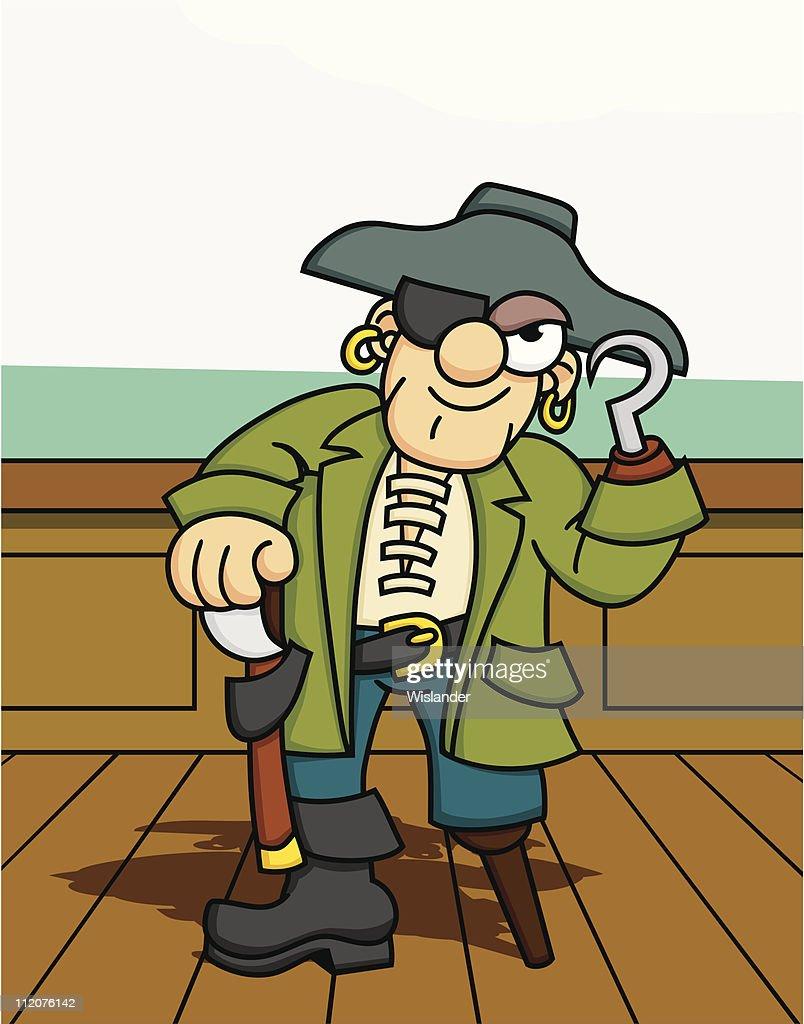 Salty Pirate : stock illustration