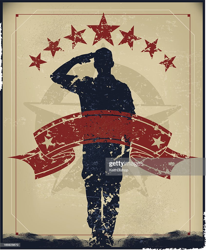 Salute Armed Forces - Military Soldier, Boy Scout Banner Background
